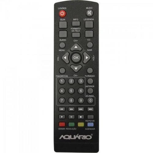 Controle Remoto para Conversor Digital DTV-5000 Preto AQUARIO