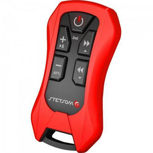 Controle Remoto para Som Automotivo Sx4 Vermelho Stetsom