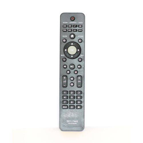 Controle Remoto Tv Philips LCD Preto