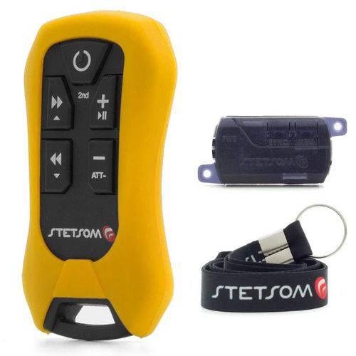 Controle Remoto Universal Longa Distância Stetsom Sx4 - 8 Funções - 200 Metros - Amarelo