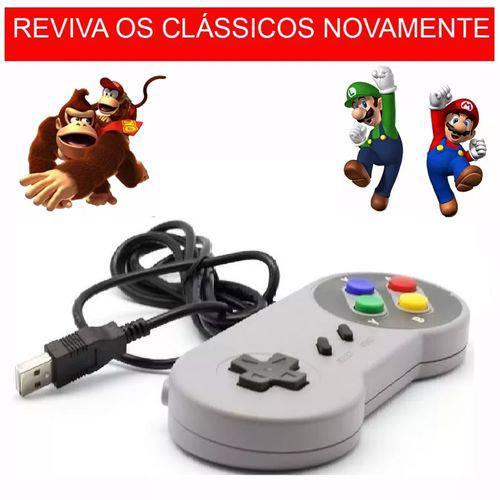 Controle Super Nintendo/Snes/Super Famicom USB para Pc/Notebook/Raspberry/Mac !