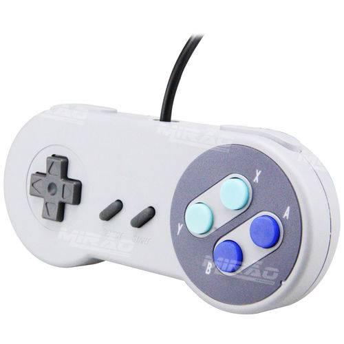 Controle Usb Super Nintendo Snes Joystick Pi3 Pi 3 - Cr-008