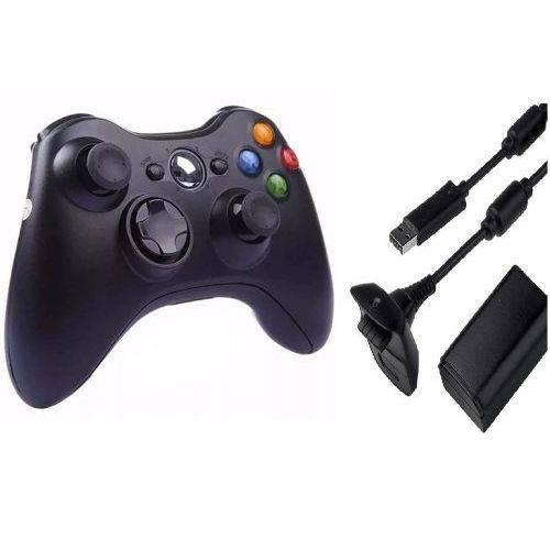 Controle X Box 360 Sem Fio e Bateria Recarregável