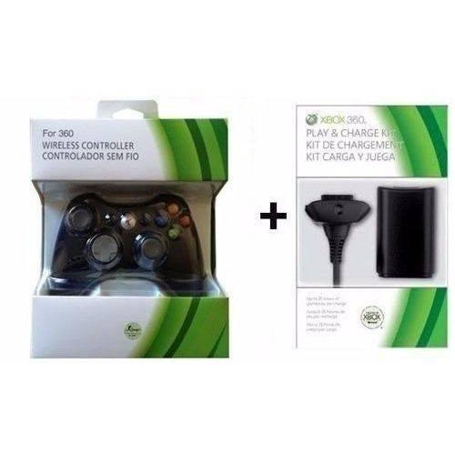 Controle Xbox 360 Sem Fio + Carregado+ Bateria 12.000mah Fr