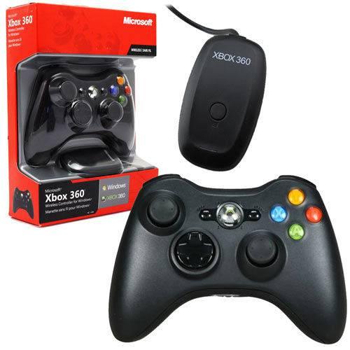 Controle Xbox 360 Sem Fio com Adaptador Wireless para Pc