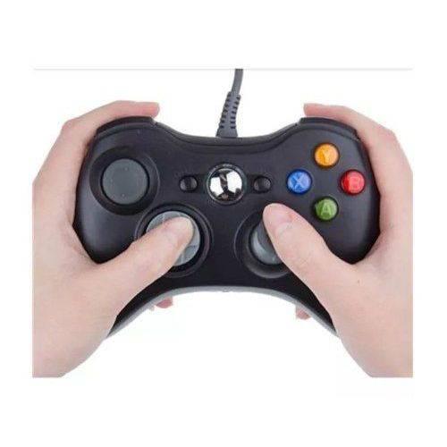 Controle Xbox360 com Fio Joystick Preto Kp-5121a Knup