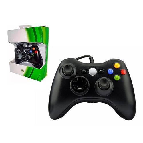 Controle Xbox360 com Fio Joystick Preto