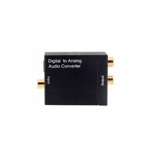 Conversor Áudio Ótico e Coaxial Digital para RCA Analógico