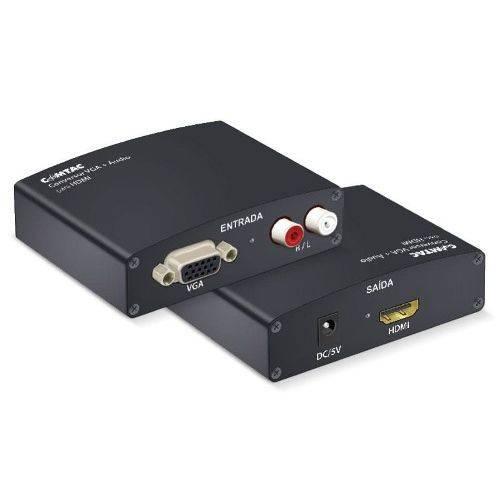 Conversor Vga/audio Rca para Hdmi Comtac 9219