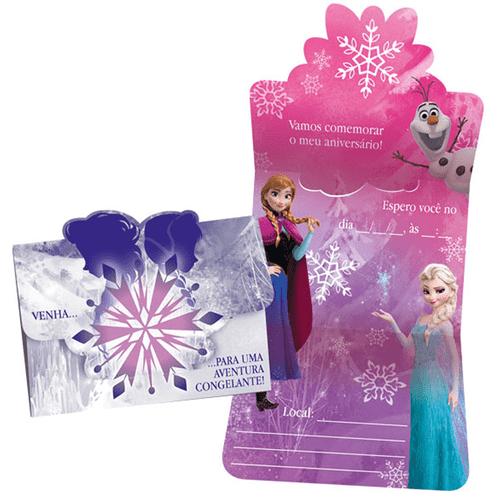 Convite Aniversário Frozen Grande 8 Unidades - Regina 1022890