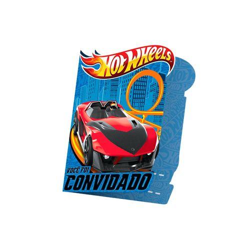 Convite Aniversário Hot Wheels Core Regina - 8 Unidades 80901