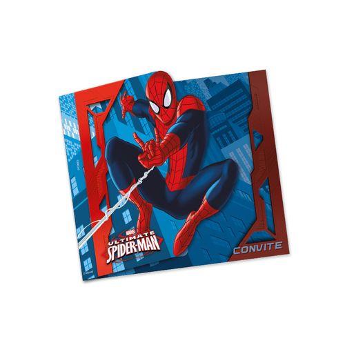 Convite Aniversário Spider Man Grande 8 Unidades - Regina 1017952