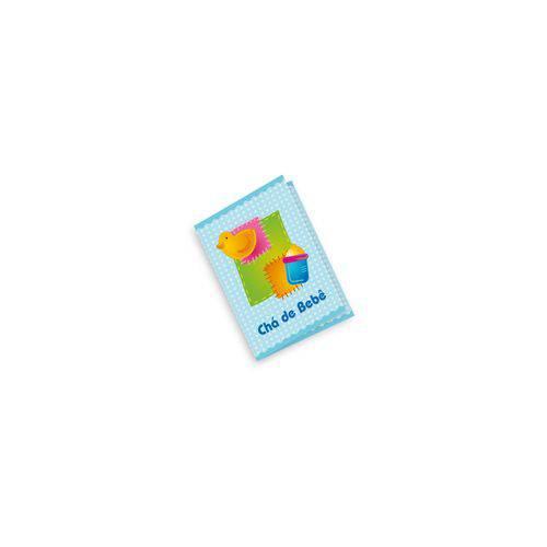 Convite Azul Chá de Bebê C/10