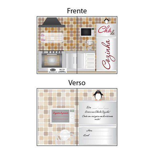 Convite Chá de Cozinha C136 C/8 - Novocard