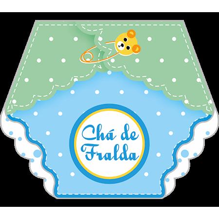 Convite Chá de Fraldas Fraldinha Menino