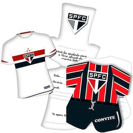 Convite de Aniversário Camisa São Paulo - 08 Unidades