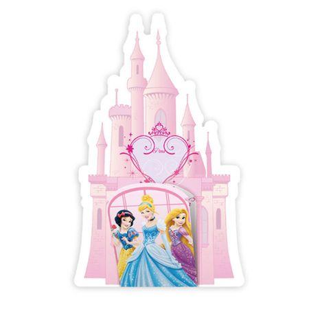 Convite de Aniversário Castelo Princesas - 08 Unidades