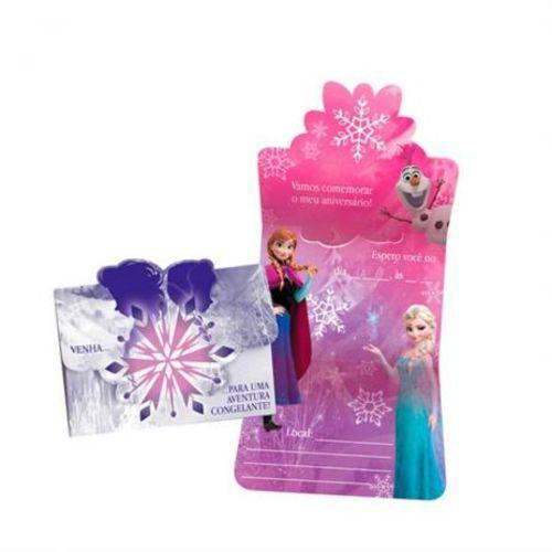 Convite de Aniversário Frozen uma Aventura Congelante