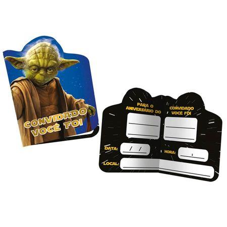 Convite de Aniversário Star Wars - 08 Unidades