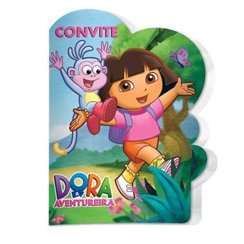 Convite de Festa de Aniversário Dora Aventureira C/8