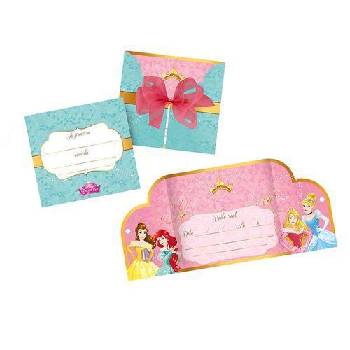Convite de Festa de Aniversário Princesas Amigas C/8
