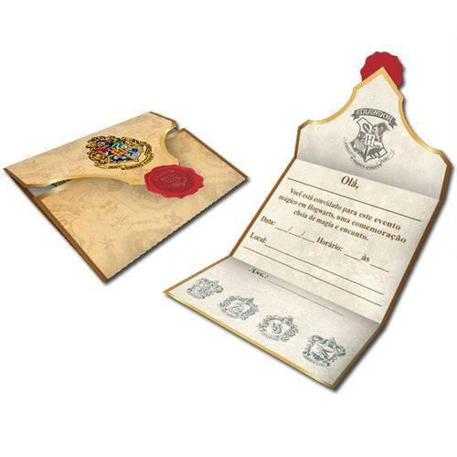 Convite de Festa Harry Potter C/8
