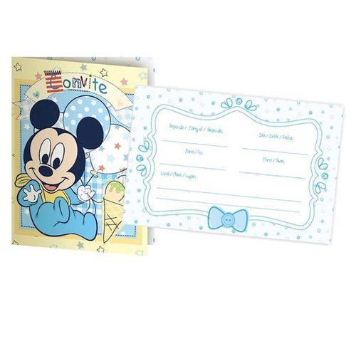 Convite Disney Baby Mickey C/ 08 Unidades