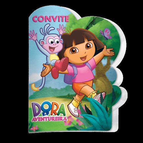 Convite Dora Aventureira 8 Unidades - Festcolor 1016631