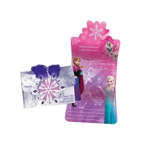Convite Grande Frozen 8 Unidades