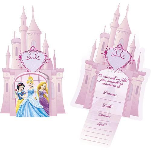 Convite Grande Princesas - 8 Unidades - Regina Festas