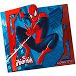 Convite Grande Ultimate Spider Man - 8 Unidades - Regina Festas