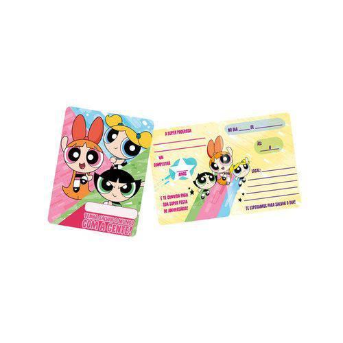 Convite Pequeno Meninas Superpoderosas C/8 Unidades