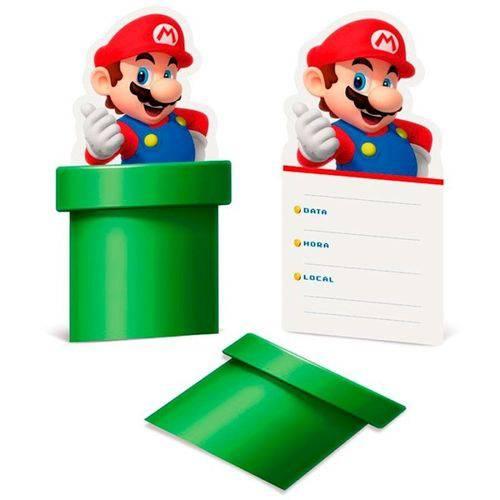 Convite Super Mario C/ 08 Unidades
