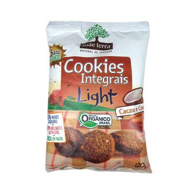 Cookies Integrais Light de Cacau e Coco 120g - Mãe Terra