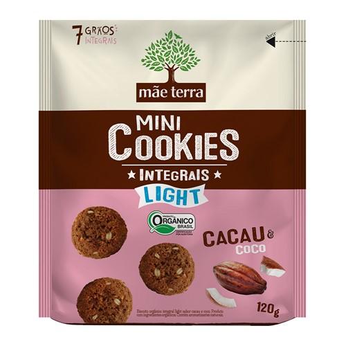 Cookies Integrais Light Mãe Terra Orgânico Cacau e Coco com 120g