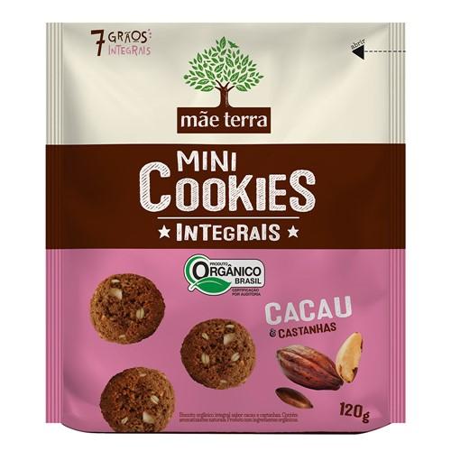 Cookies Integrais Mãe Terra Orgânico Cacau e Castanhas com 120g
