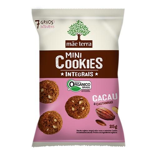 Cookies Integrais Mãe Terra Orgânico Cacau e Castanhas com 25g