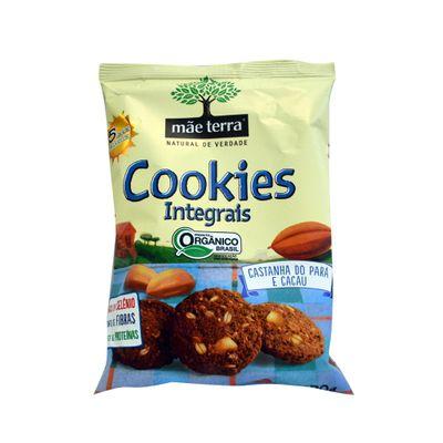 Cookies Integrais Orgânicos Castanha-do-Para e Cacau 120g - Mãe Terra
