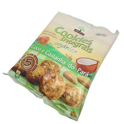 Cookies Integrais Orgânicos Coco e Castanha-do-Pará 120g - Mãe Terra