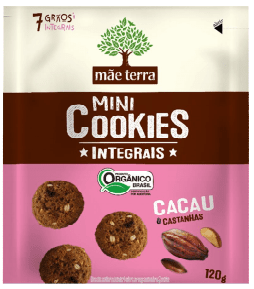 Cookies Orgânico Cacau 120g - Mãe Terra