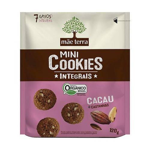 Cookies Orgânicos Cacau e Castanhas 120g - Mãe Terra