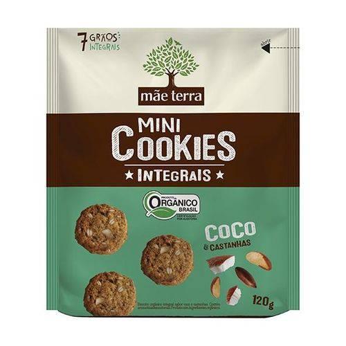 Cookies Orgânicos Coco e Castanhas 120g - Mãe Terra