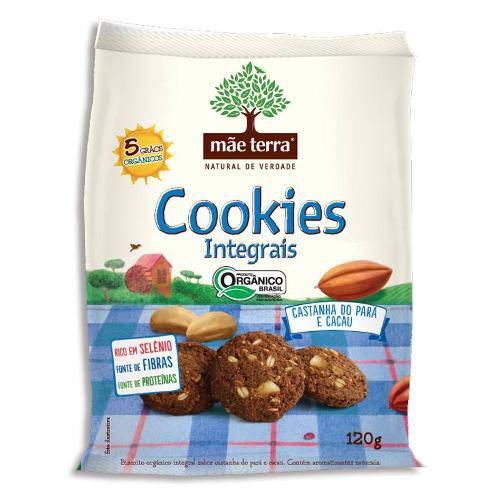 Cookies Orgânicos Integrais - Castanha do Pará e Cacau