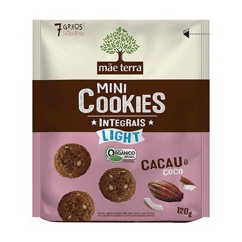 Cookies Orgânicos Light Cacau e Coco 120g - Mãe Terra