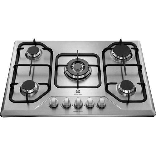 Cooktop à Gás Electrolux em Inox 5q Tripla-chama Bivolt