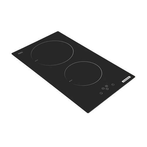 Cooktop por Indução Dominó Tramontina 2 Bocas Vitrocerâmico Painel Touch 2EI 30 e Timer - 220 V