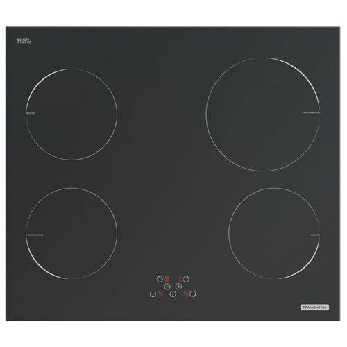 Cooktop Vitrocerâmico 4 Bocas Indução New Square Touch Tramontina 94751220