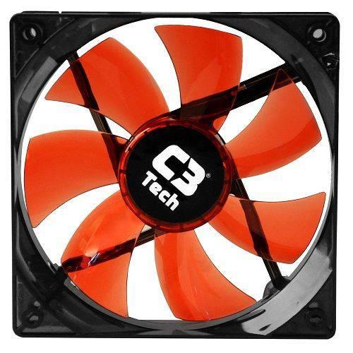 Cooler C3 Tech Fan 12 Cm F7-l100 Rd Storm Led C3t Vermelho