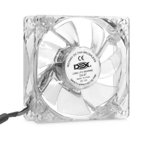 Cooler Dex Led Azul Transp Dx-8T 80MM