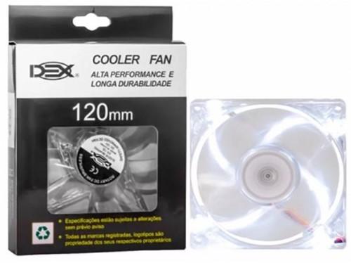 Cooler Dex Led Branco Dx-12l 120mm